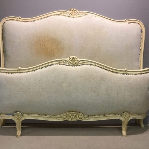 White corbeille French bed