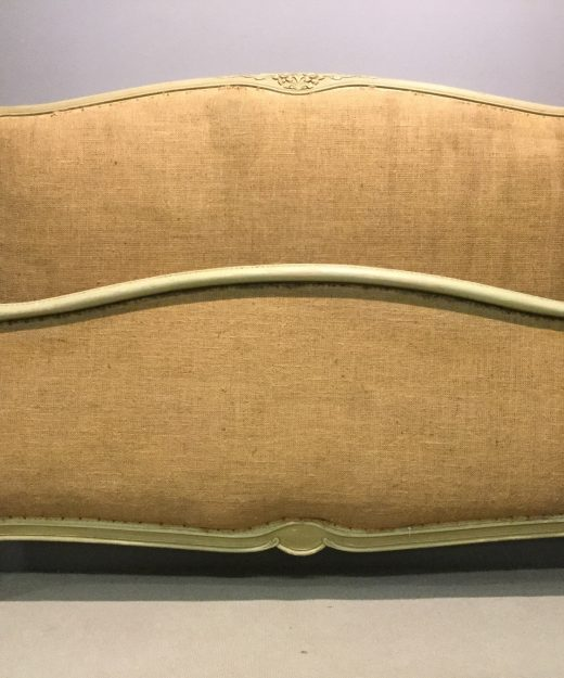 Original painted scroll end French bed