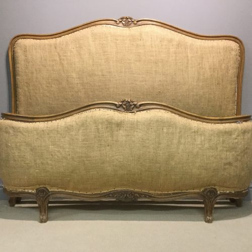 Original painted corbeille French bed