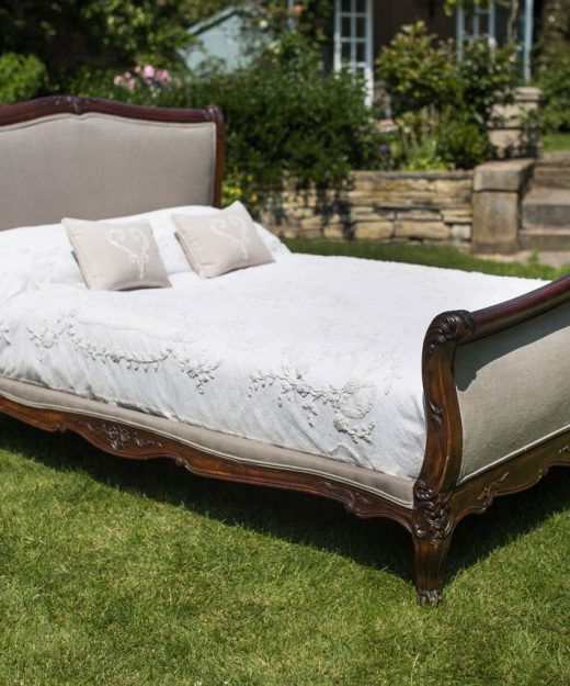 French Scroll End Upholstered Bed